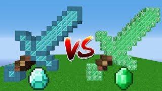 ELMAS VS ZÜMRÜT KILIÇ ŞANS BLOKLARI 😱 - Minecraft