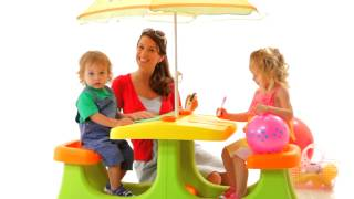 Keter Kids Patio Center- A Picnic Table With An Umbrella