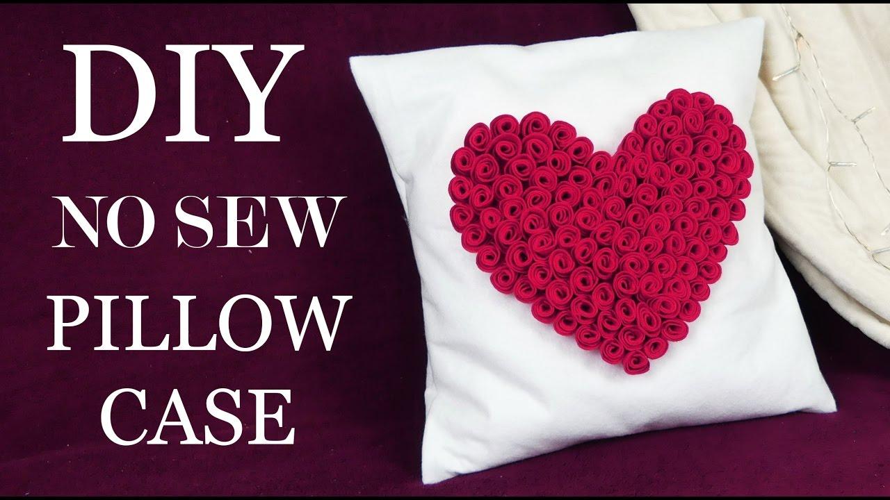 How To Make No Sew Easy Pillowcase I DIY Room Decor I How To Make Felt Roses & How To Make No Sew Easy Pillowcase I DIY Room Decor I How To Make ... pillowsntoast.com