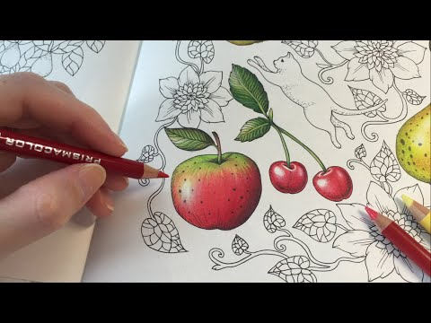 apple-drawing-/-coloring-|-blomstermandala-coloring-book