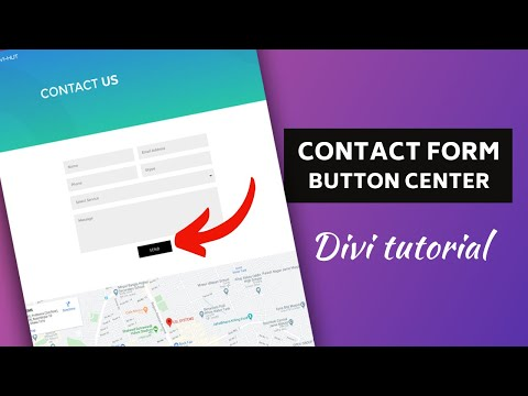 How To Make Divi Contact Form Submit Button Center Aligned