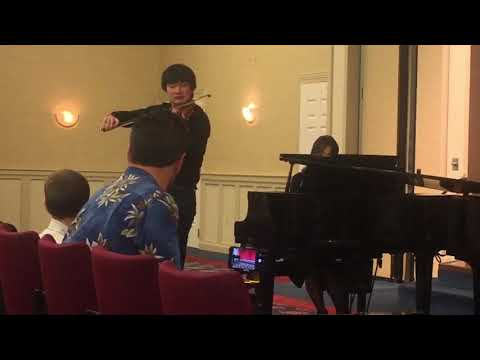 Andrew Yang plays Tchaikovsky violin concerto 3rd movement