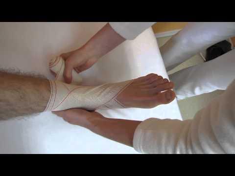 Obvazové techniky - klasový obvaz nohy thumbnail