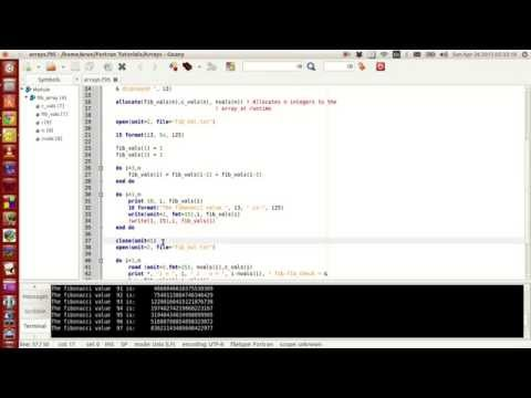 Fortran Programming Tutorials (Revised) : 025 : Reading and Writing to files - Simple