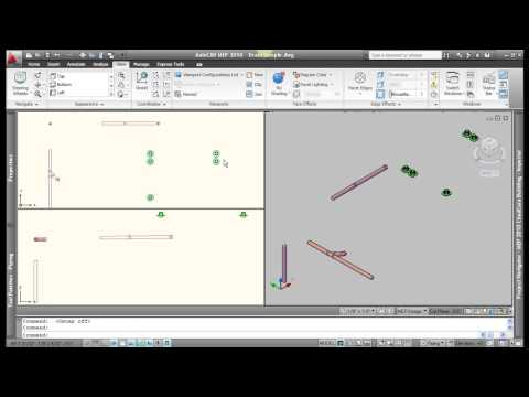 AutoCAD MEP 2010 Piping Basics - Video 1of2