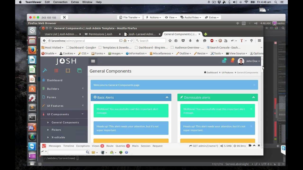Josh - Laravel 5.1 Admin Template + Front End + CRUD - Walk through ...