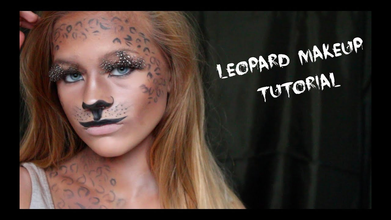 Leopard Makeup Tutorial / Halloween 2015 - YouTube
