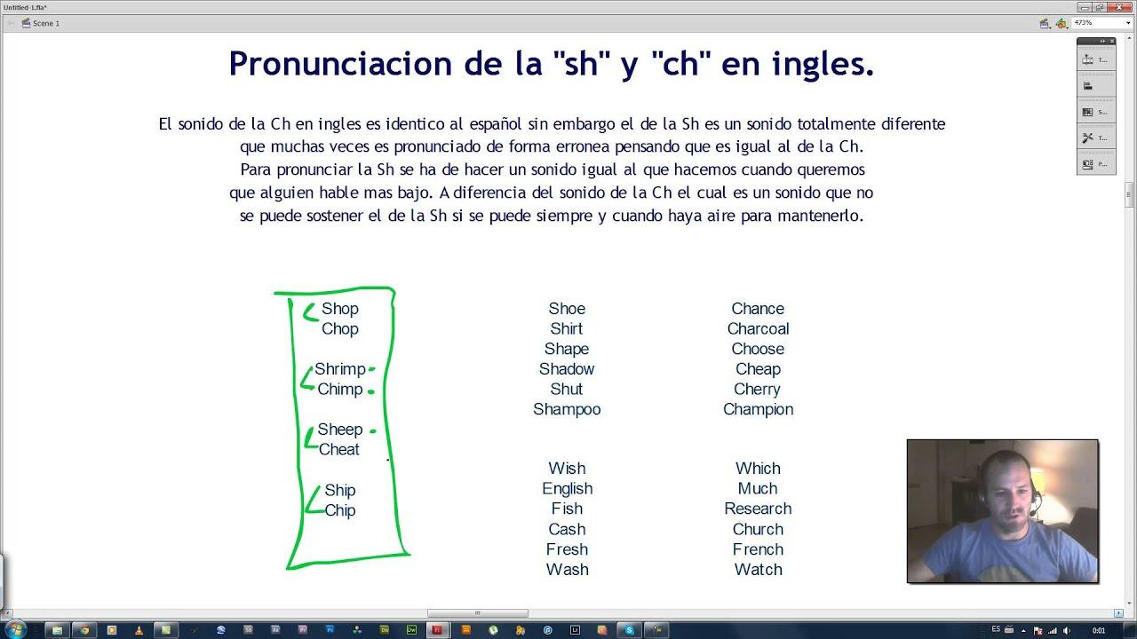 La Correcta Pronunciacion De La Sh Y Ch En Ingles
