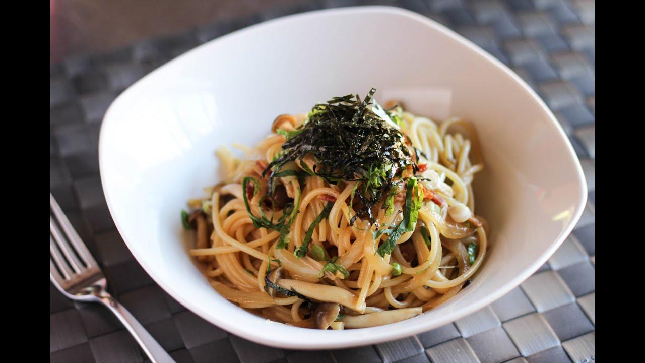 Spaghetti with Shimeji Mushroom Recipe - Japanese Cooking ...