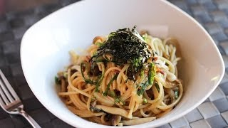 Spaghetti With Shimeji Mushroom Recipe - Japanese Cooking 101