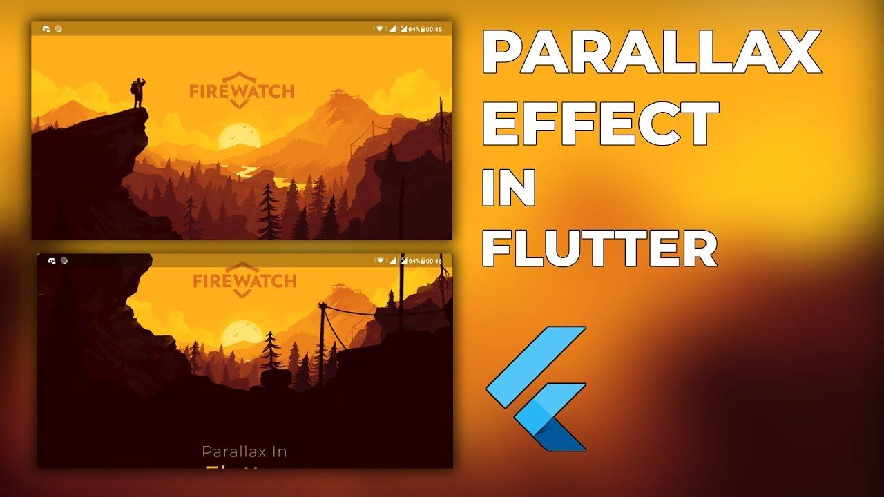 Parallax Scrolling – Flutter Tutorial