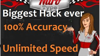 Nitro type Biggest Hack ever-unlimited speed & 100% accuracy (2016)