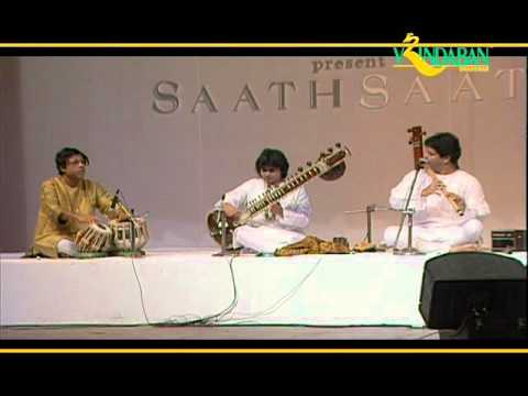 Rakesh Chaurasia and Niladri Kumar with Anindo Chatterjee - Bageshree