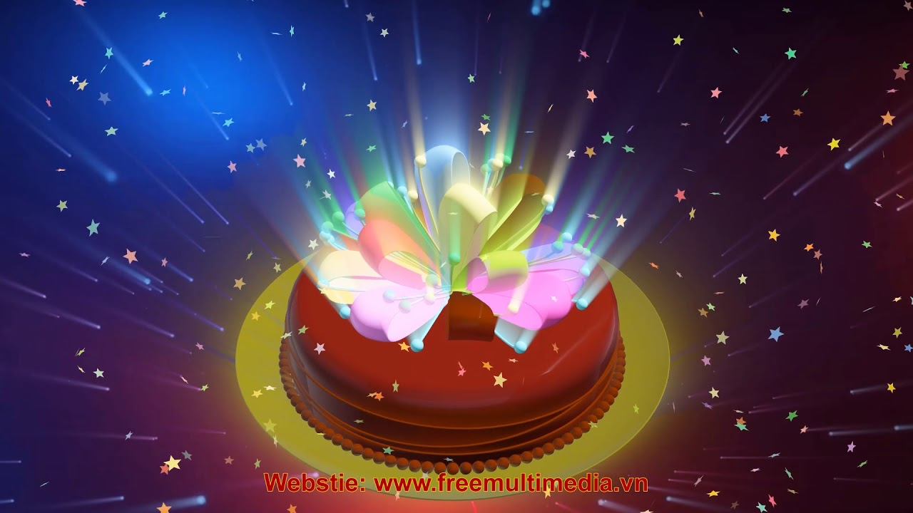 Free Video Background Happy Birthday 3d Cake Youtube