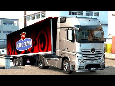 Euro Truck Simulator 2 Scandinavia DLC - Mercedes-Benz New Actros Picking up a Trailer  