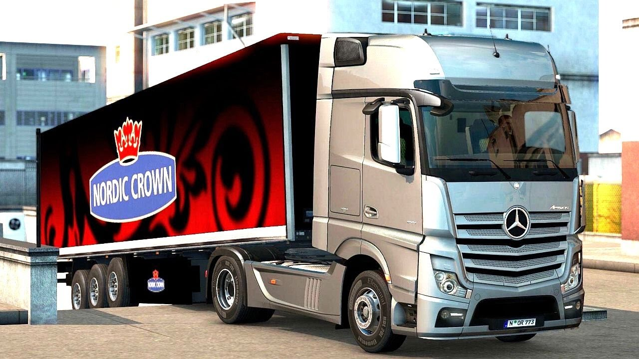 euro truck simulator 2 scandinavia dlc mercedes benz new. Black Bedroom Furniture Sets. Home Design Ideas
