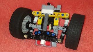 самый простой передний мост,поворотный механизм с приводом из лего техник.Обзоринструкция