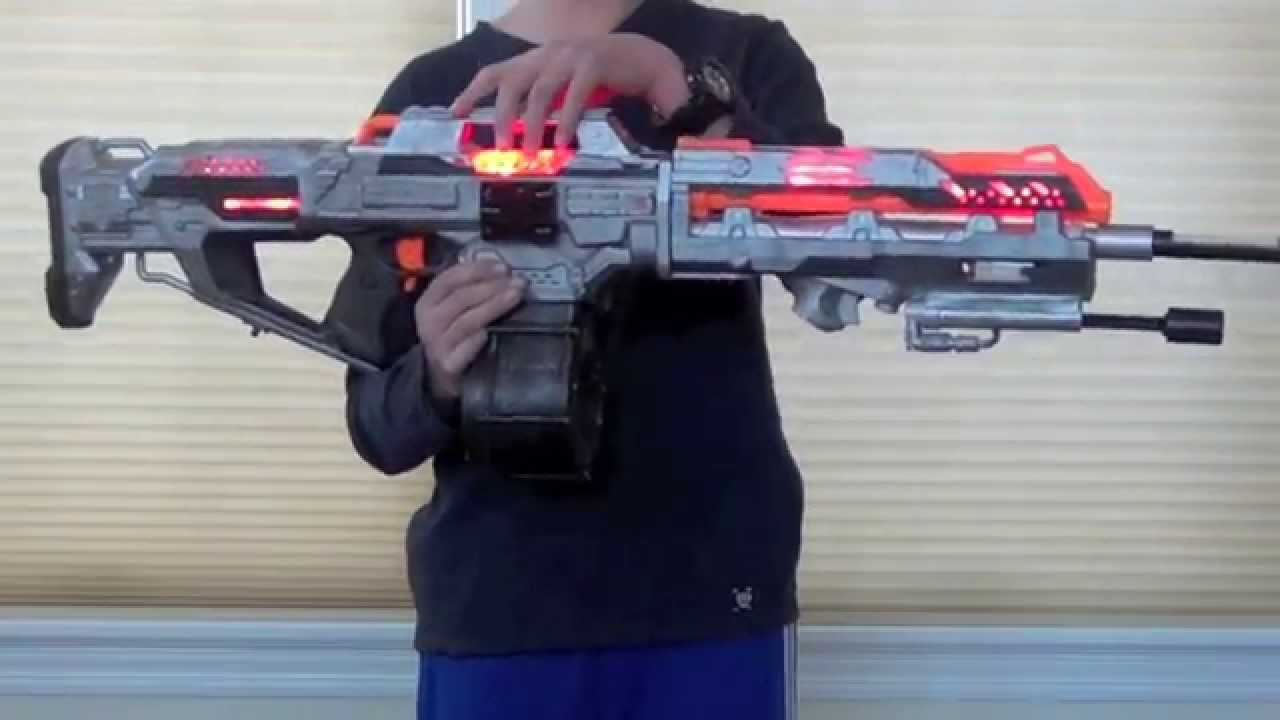[OVERVIEW] Halo Saw Nerf Replica - YouTube