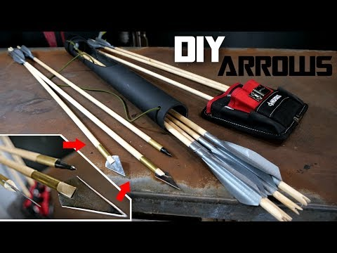 How to Make BROADHEAD ARROWS and PVC QUIVER!!! (easy peasy lemon squeezy)