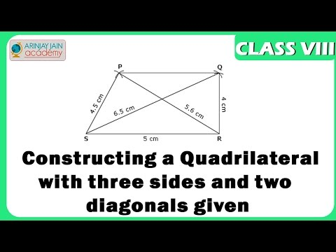Quadrilateral construction with three sides and two ...