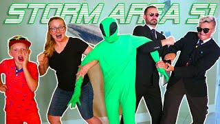Storming Area 51 Raid Game With Tannerites and Carl And Jinger Family!