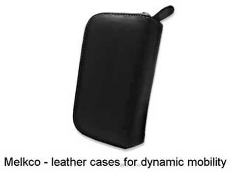 Melkco Tasche Leder Etui cuir ~HTC Kaiser 120 P4550/HTC TyTN II/MDA Vario III/AT&T Tilt 8925/EMONSTER S11HT - Zipper Type (Black)