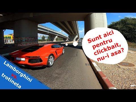 Trotineta vs Lamborghini - Vlog cu seful meu
