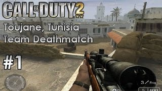 Call of Duty 2 - Multiplayer Team Deathmatch #1 - Toujane, Tunisia