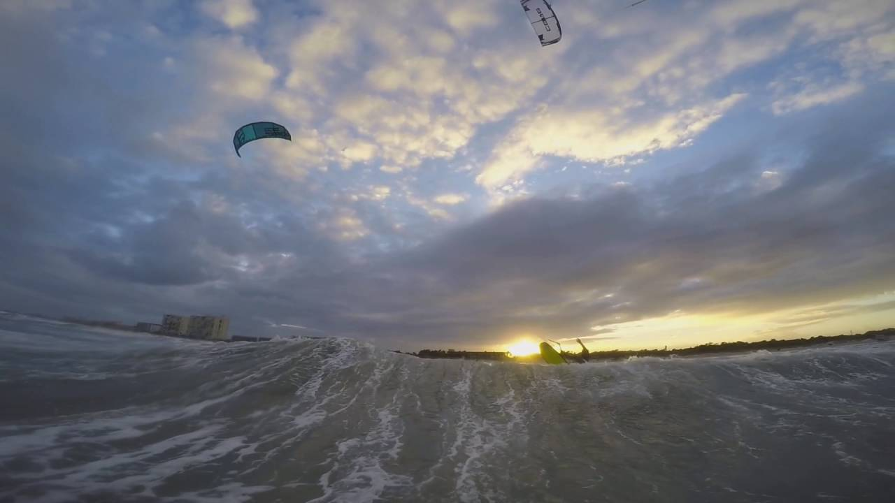 Cocoa Beach Kitesurfing Downwinder Hurricane Matthew