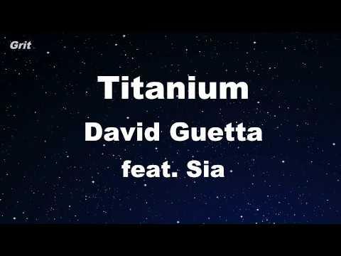 Titanium ft. Sia - David Guetta Karaoke 【With Guide Melody】 Instrumental