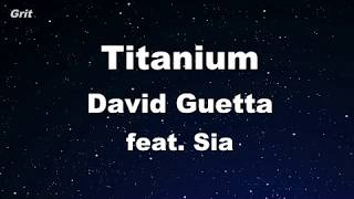 Titanium ft. Sia - David Guetta Karaoke 【With Guide Melody】 Instrumental