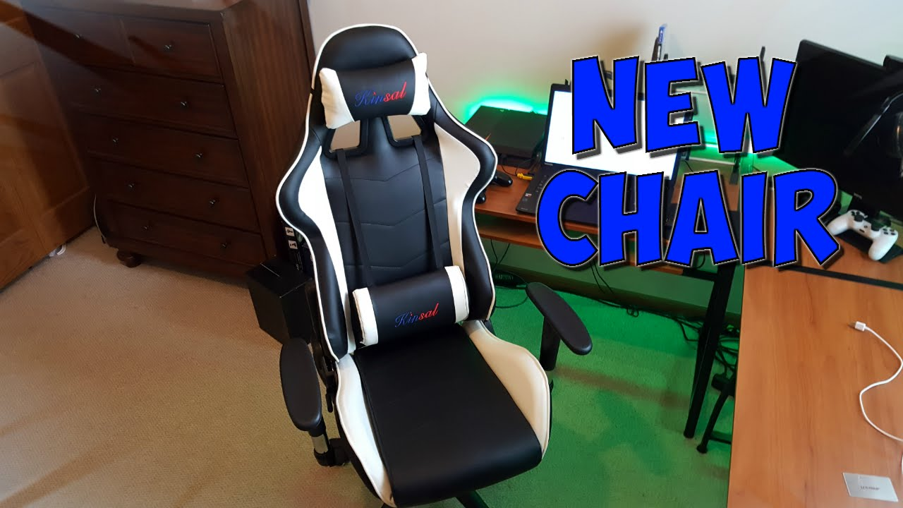 NEW CHAIR! (Kinsal Gaming Chair Review) - YouTube