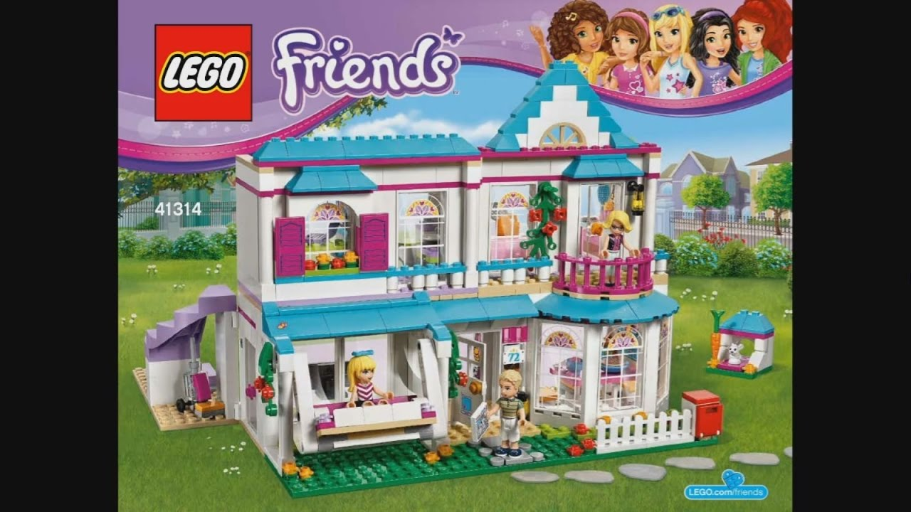 Lego Friends 41314 Stephanies House Instruction Timelapse Youtube