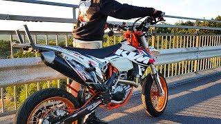 KTM Supermoto Exploring at a MEET  | Motovlog!