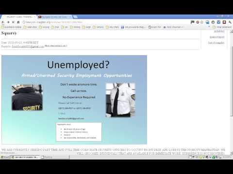 Craigslist Security Guard Job Scams