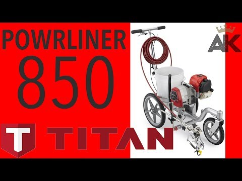 Titan Powrliner PL850 - Entry Level Line Striping Machine For Parking Lots Or Fields