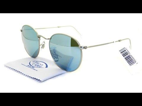 Óculos de Sol Ray-Ban Round 3447 019 30 53 Espelhado - YouTube 6b0382be31