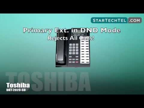 How To Use Do Not Disturb On The Toshiba DKT-2020-SD Phone