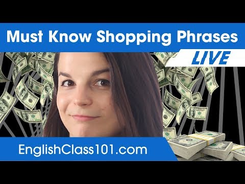 Most Useful Shopping Words and Phrases - Learn English Vocabulary 🔴