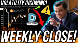 BITCOIN WEEKLY CLOSE! USA & UK MARKET CRASH!? Business News! DOWJ BTC ETH Price Analysis