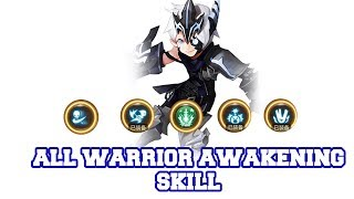 All Warrior Awakening Skill - Dragon Nest M #AKMJ Gaming