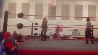 the original lord humongous vs three wrestlers