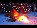 Spannende Survival Abenteuer Doku 4 Tage im Winterwald bei -12 Grad Lagerbau, aus dem Rucksack leben