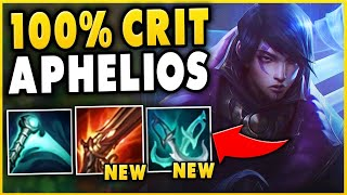 *I BROKE HIM* 100% CRIT APHELIOS IS ABSOLUTEY INSANE (HUGE DAMAGE) - League of Legends
