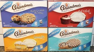 Grandma's Frosted Cookies Blueberry & White Chocolate, Red Velvet, Lemon Pie & Cinnamon Roll