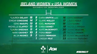 Irish Rugby TV: Ireland Women v USA Women Full Match Replay