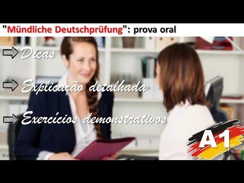 """Vídeo Aula de Alemão: Prova de Alemão """"Mündliche Deutschprüfung"""" - Nível A1 (Explicação detalhada)"""