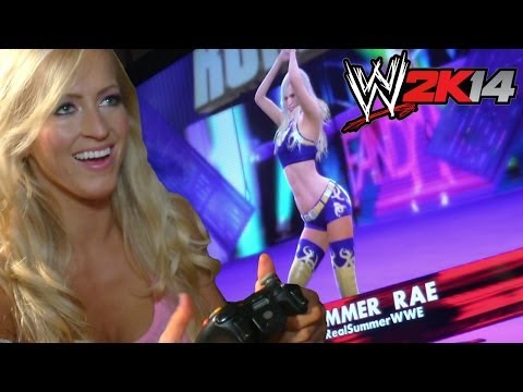 WWE Superstars & Divas play the new WWE 2K14