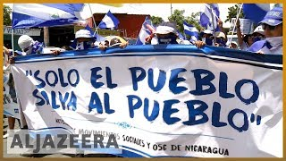 🇳🇮 Nicaraguans marchers call for release of political prisoners | Al Jazeera English thumbnail