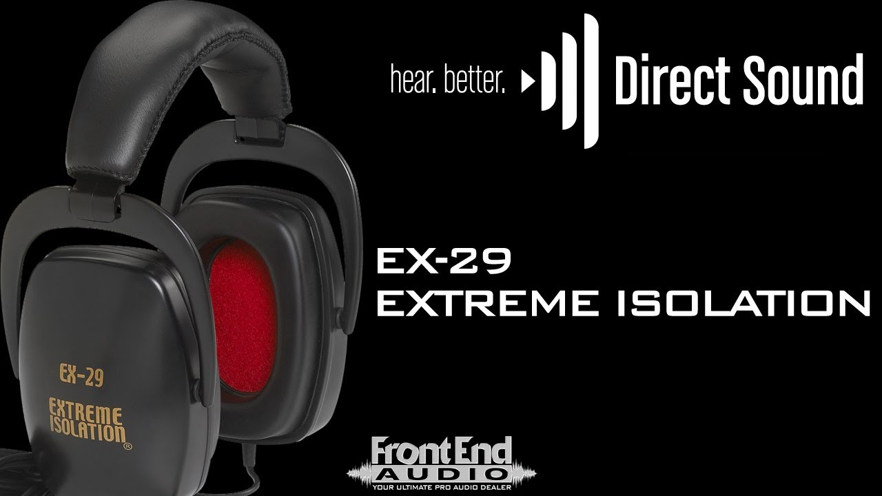 direct sound ex 29 extreme isolation headphones youtube. Black Bedroom Furniture Sets. Home Design Ideas